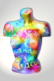 Torso, Skulptur, bunt, abstrakt, Art, Kunst, Malerei, Original, Unikat, Kunststoff, Acryl, weiblich, 51