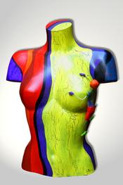 Torso, Skulptur, bunt, abstrakt, Art, Kunst, Malerei, Original, Unikat, Kunststoff, Acryl, weiblich, 7, Kletterer