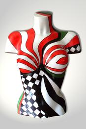 Torso, Skulptur, bunt, abstrakt, Art, Kunst, Malerei, Original, Unikat, Kunststoff, Acryl, weiblich, 59