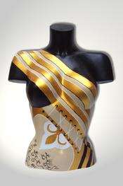 Torso, Skulptur, bunt, abstrakt, Art, Kunst, Malerei, Original, Unikat, Kunststoff, Acryl, weiblich, 69