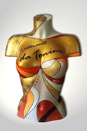 Torso, Skulptur, bunt, abstrakt, Art, Kunst, Malerei, Original, Unikat, Kunststoff, Acryl, weiblich, 65