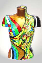 Torso, Skulptur, bunt, abstrakt, Art, Kunst, Malerei, Original, Unikat, Kunststoff, Acryl, weiblich, 22