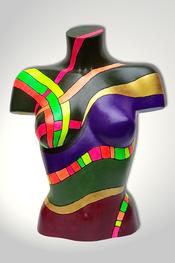 Torso, Skulptur, bunt, abstrakt, Art, Kunst, Malerei, Original, Unikat, Kunststoff, Acryl, weiblich, 77