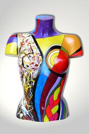 Torso, Skulptur, bunt, abstrakt, Art, Kunst, Malerei, Original, Unikat, Kunststoff, Acryl, weiblich, 40
