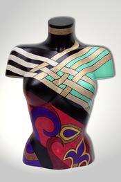 Torso, Skulptur, bunt, abstrakt, Art, Kunst, Malerei, Original, Unikat, Kunststoff, Acryl, weiblich, 73