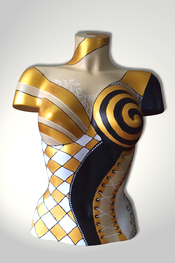 Torso, Skulptur, bunt, abstrakt, Art, Kunst, Malerei, Original, Unikat, Kunststoff, Acryl, weiblich, 67