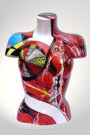 Torso, Skulptur, bunt, abstrakt, Art, Kunst, Malerei, Original, Unikat, Kunststoff, Acryl, weiblich, 27