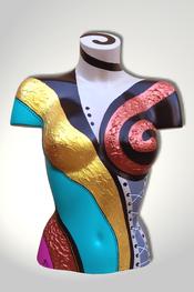 Torso, Skulptur, bunt, abstrakt, Art, Kunst, Malerei, Original, Unikat, Kunststoff, Acryl, weiblich, 129