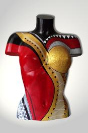 Torso, Skulptur, bunt, abstrakt, Art, Kunst, Malerei, Original, Unikat, Kunststoff, Acryl, weiblich, 95