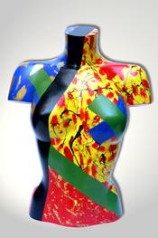 Torso, Skulptur, bunt, abstrakt, Art, Kunst, Malerei, Original, Unikat, Kunststoff, Acryl, weiblich, 14