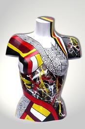 Torso, Skulptur, bunt, abstrakt, Art, Kunst, Malerei, Original, Unikat, Kunststoff, Acryl, weiblich, 28