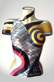 Torso, Skulptur, bunt, abstrakt, Art, Kunst, Malerei, Original, Unikat, Kunststoff, Acryl, weiblich, 63
