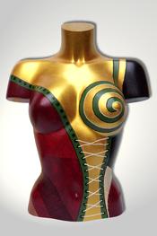 Torso, Skulptur, bunt, abstrakt, Art, Kunst, Malerei, Original, Unikat, Kunststoff, Acryl, weiblich, 71