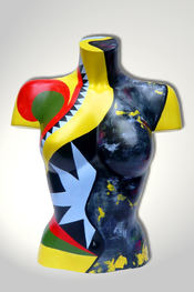 Torso, Skulptur, bunt, abstrakt, Art, Kunst, Malerei, Original, Unikat, Kunststoff, Acryl, weiblich, 11
