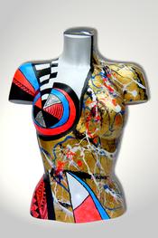 Torso, Skulptur, bunt, abstrakt, Art, Kunst, Malerei, Original, Unikat, Kunststoff, Acryl, weiblich, 26
