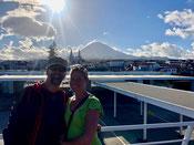 Kurzer Halt in Madalena mit dem Pico im Hintergrund