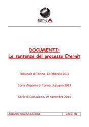 Le sentenze del processo Eternit
