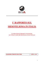 Primo rapporto sul mesotelioma in italia