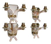 Set of 4 Wall Sconces Maison JANSEN French Art Deco Modernist