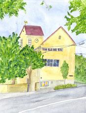 Grußkarte Brenzkirche Killesberg