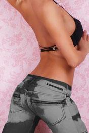 print design legging pansy, gebleekt, vlekken grijs