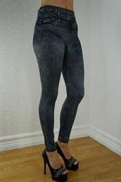 jeans print legging skinny