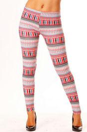 patroon print legging priskila, veelkleurig