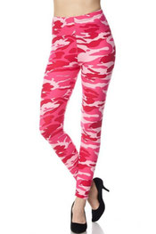 camouflage print legging caley-may, army/roze