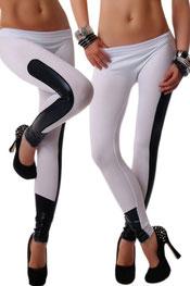 imitatieleer legging, zijde wit