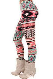 patroon print legging perijn,