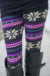 winter patroon leggings