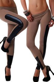 imitatieleer legging, zijde bruin