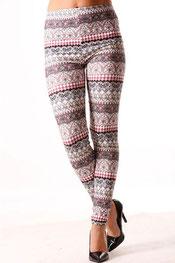 patroon print legging priscal,