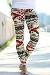 patroon print legging princoquola,