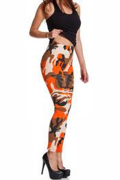 camouflage print legging cali, oranje