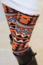 patroon print legging pacelle, geometrisch