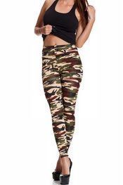 camouflage print legging c'janey, armygreen