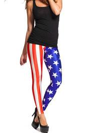 vlaggen print legging u.s.a.