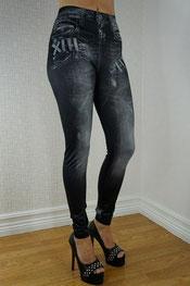 jeans print legging sexy donker