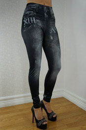 jeans print legging sexy donker