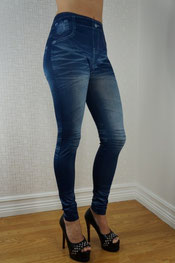 Jeans print legging jaffa/prizcila, jegging, denim, skinny blauw