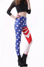 vlaggen print legging usa
