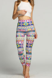 patroon print legging pyrra,