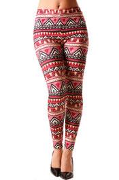 patroon print legging vlekken