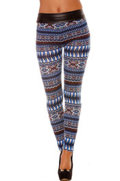 patroon print legging peternella,