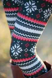 winter print leggings