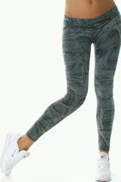 jeans print legging, skinny, denim, jegging zwart