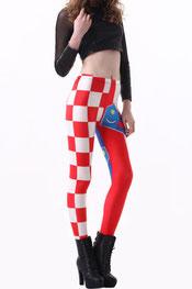 vlaggen print legging kroatië
