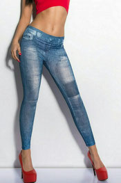 jeans print leggings