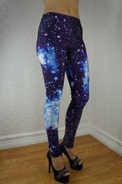 galaxy print legging, kosmische ruimte print